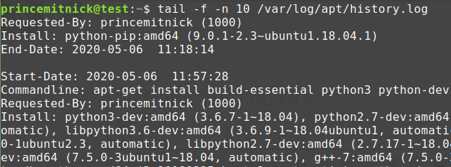 checking the log files, partI